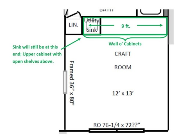 160724 Craft room floor plan with cabinets