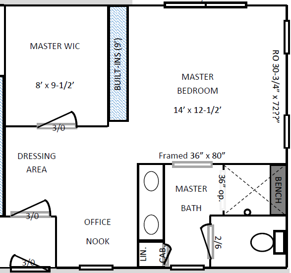 160727 Floor Plan - Master Suite