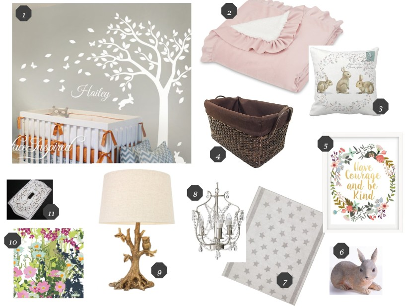 Nursery design for Marcie Jane