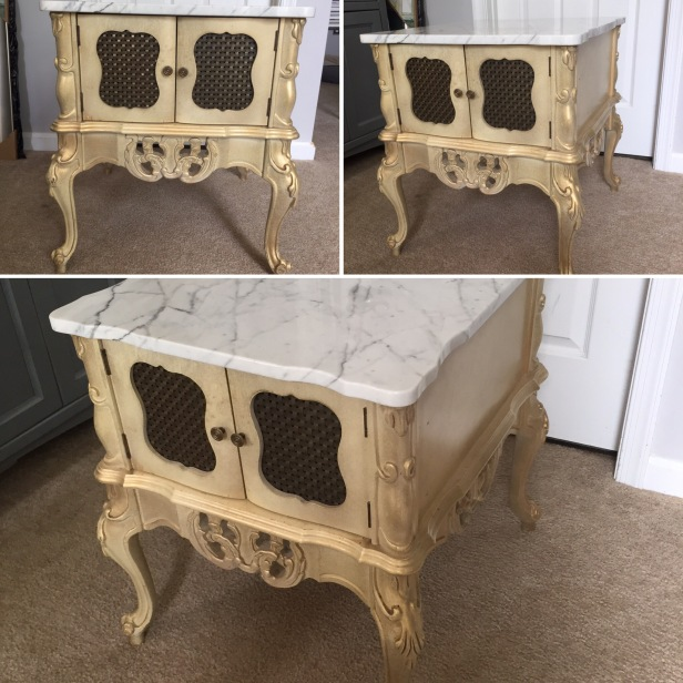 vintage end table - before