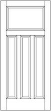 Allegheny wood door - four panel craftsman