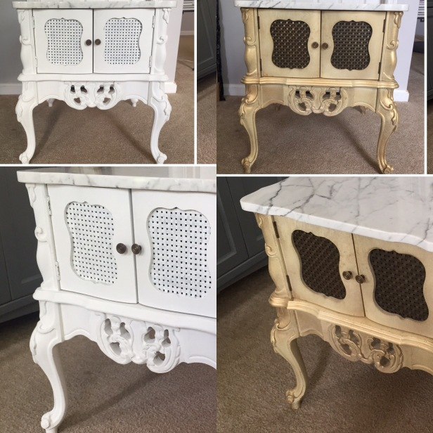 vintage end tables - before & after