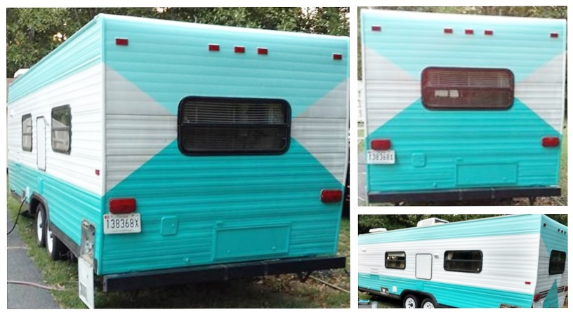 Retro Camper, Teal Camper | Angie Builds a House