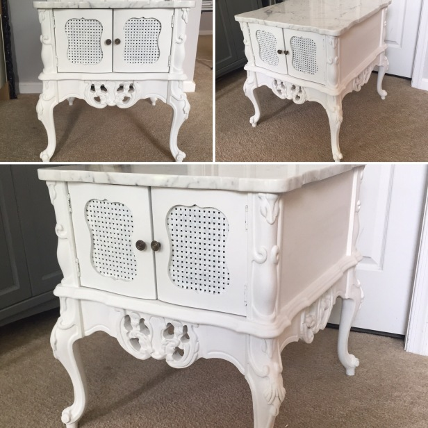 vintage end tables - after
