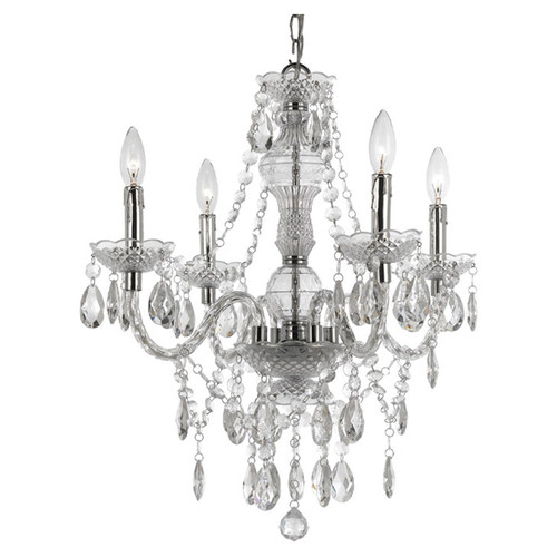 Kathie Chandelier by Birch Lane Kids $86 {guest bedroom and craft room} | AngieBuildsAHouse.com