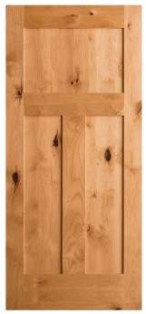 Krosswood Craftsman door in Knotty Alder from Home Depot