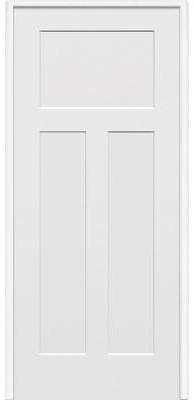 Milliken Craftsman door in primed white from Home Depot