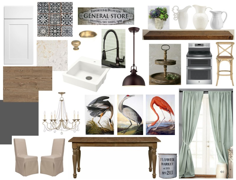 Kitchen & Dining Room Inspiration Board | Angie Builds a House