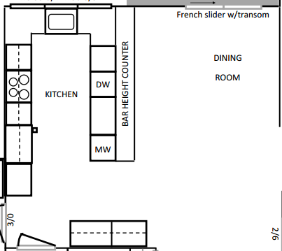 Kitchen & Dining Room Floor Plan