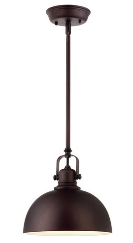 Oil rubbed bronze pendant light {for the kitchen peninsula} | AngieBuildsAHouse.com