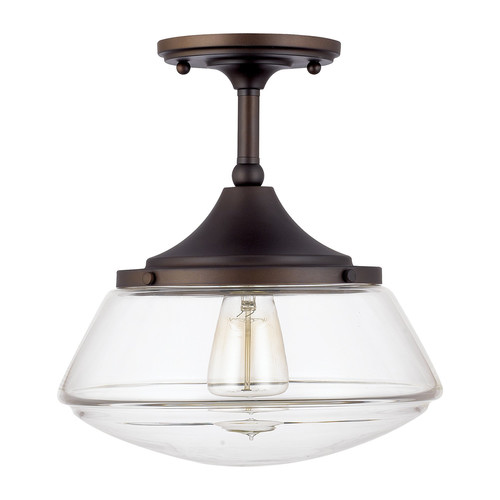 Wendy Semi-Flush Light $94 {for the laundry room} | AngieBuildsAHouse.com