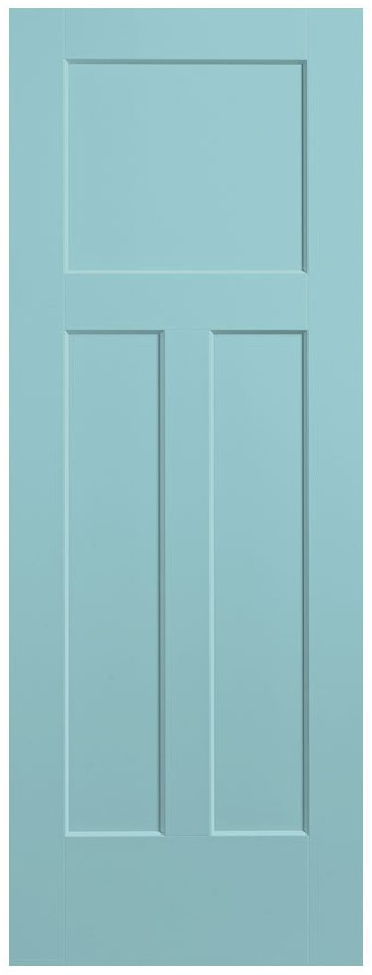 Masonite Craftsman door in Sea Mist from Lowe's