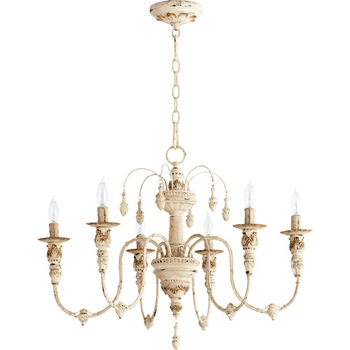 Shauna Chandelier in Persian White $296 {master bedroom} | AngieBuildsAHouse.com