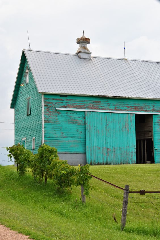 Teal Barn - Exterior Inspiration | Angie Builds a House