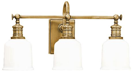 Hudson Valley Keswick Light in Aged Brass