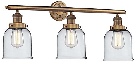 Vanity Light in Brushed Brass from Lamps Plus