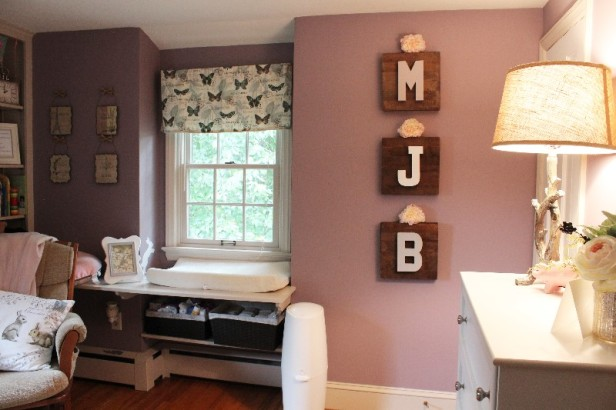 nursery design | girl's nursery | purple nursery | rustic glam | woodland nursery | ANGIEBUILDSAHOUSE.com
