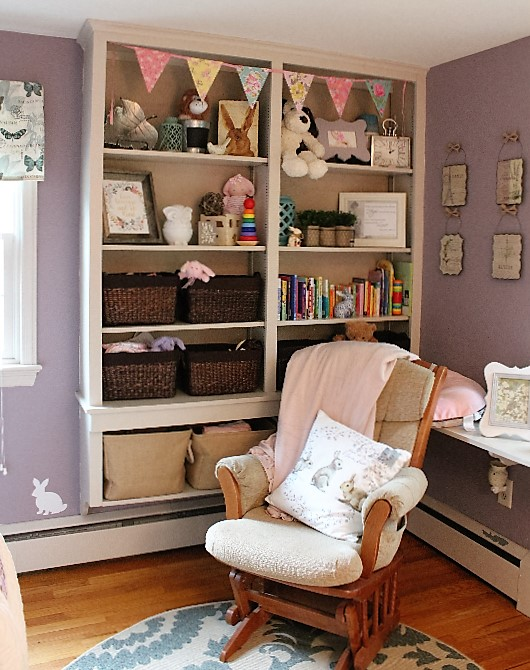 nursery design | girl's nursery | purple nursery | woodland nursery | rustic glam | ANGIEBUILDSAHOUSE.com