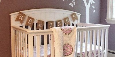 nursery design | girl's nursery | woodland nursery | bunny theme nursery | decal | rustic glam | ANGIEBUILDSAHOUSE.com