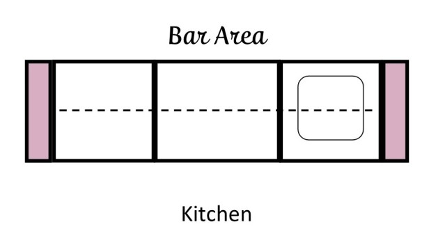 Bar Area in Kitchen Layout | Angie Builds a House