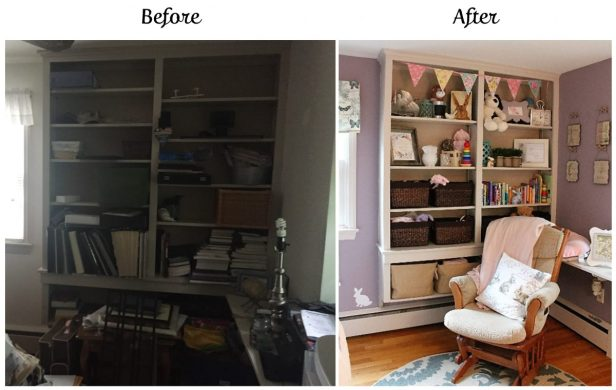 nursery before & after | nursery design | girl's nursery | bunny themed nursery | woodland nursery | rustic glam | ANGIEBUILDSAHOUSE.com