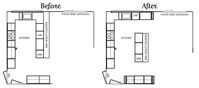 Kitchen Layout / Kitchen Design - Before & After | Angie Builds a House