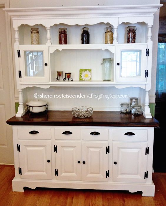 Vintage hutch makeover project from A Frog In My Soup | Angie Builds a House