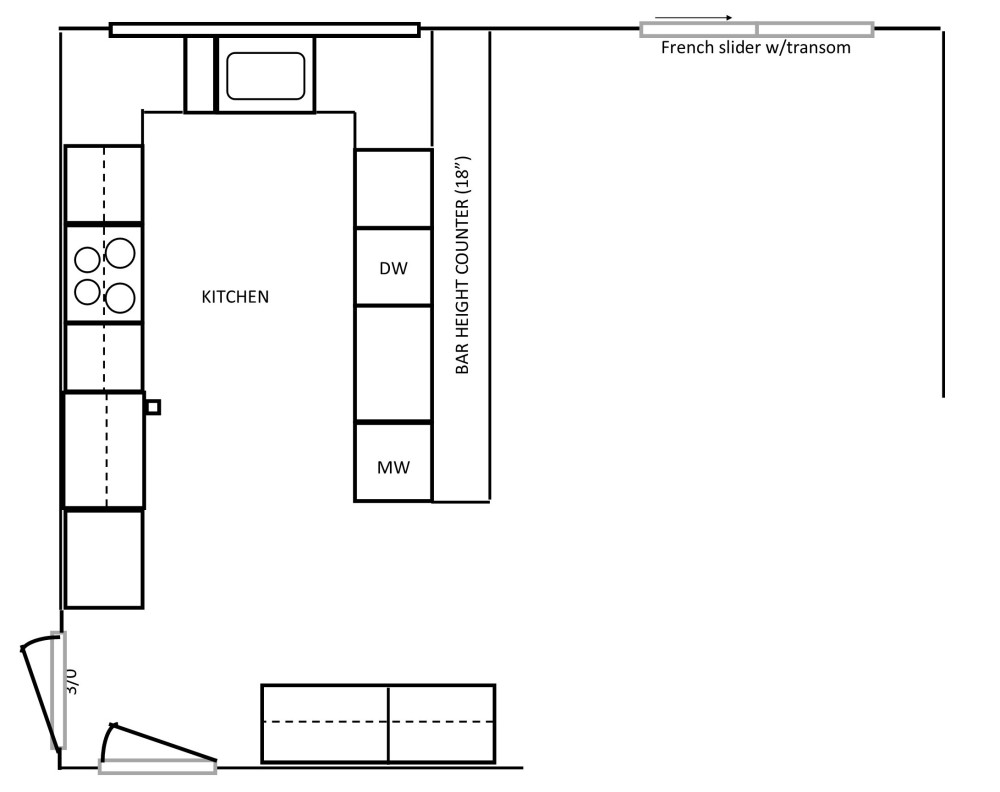 Kitchen Layout / Kitchen Design Before | Angie Builds a House