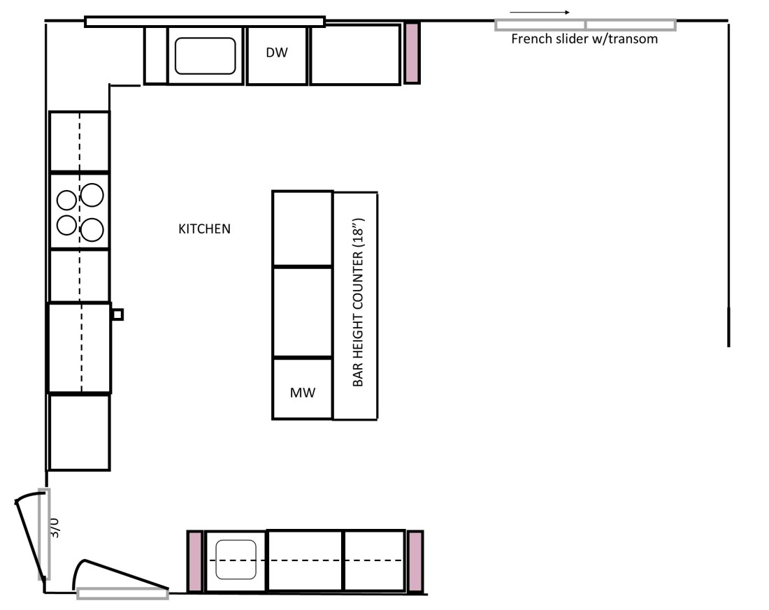 Updated Kitchen Layout / Kitchen Design | Angie Builds a House