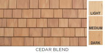 "Cedar Impressions individual 5"" sawmill shingles in cedar blend | AngieBuildsAHouse.com"