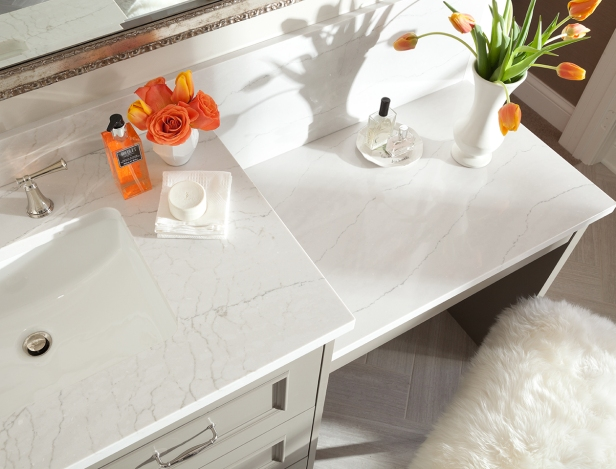 Ella Quartz Countertop by Cambria