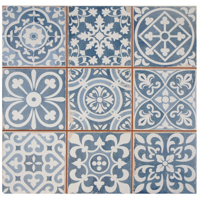 Faventie Azul Ceramic Tile - purchased from Wayfair