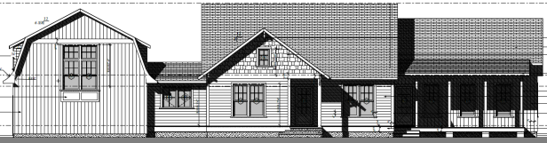 Cottage Curb Appeal - front elevation / architectural drawing | AngieBuildsAHouse.com