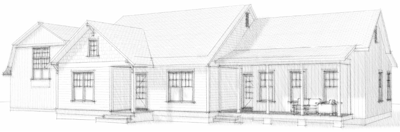 Cottage Curb Appeal - exterior elevation for cottage house plan | AngieBuildsAHouse.com