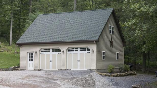 Garage with Gable Roof