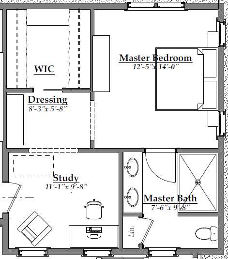 Master Suite Floor Plan (After) | AngieBuildsAHouse.com