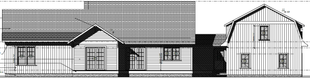 Cottage Curb Appeal - exterior elevation for the rear side of the house | AngieBuildsAHouse.com
